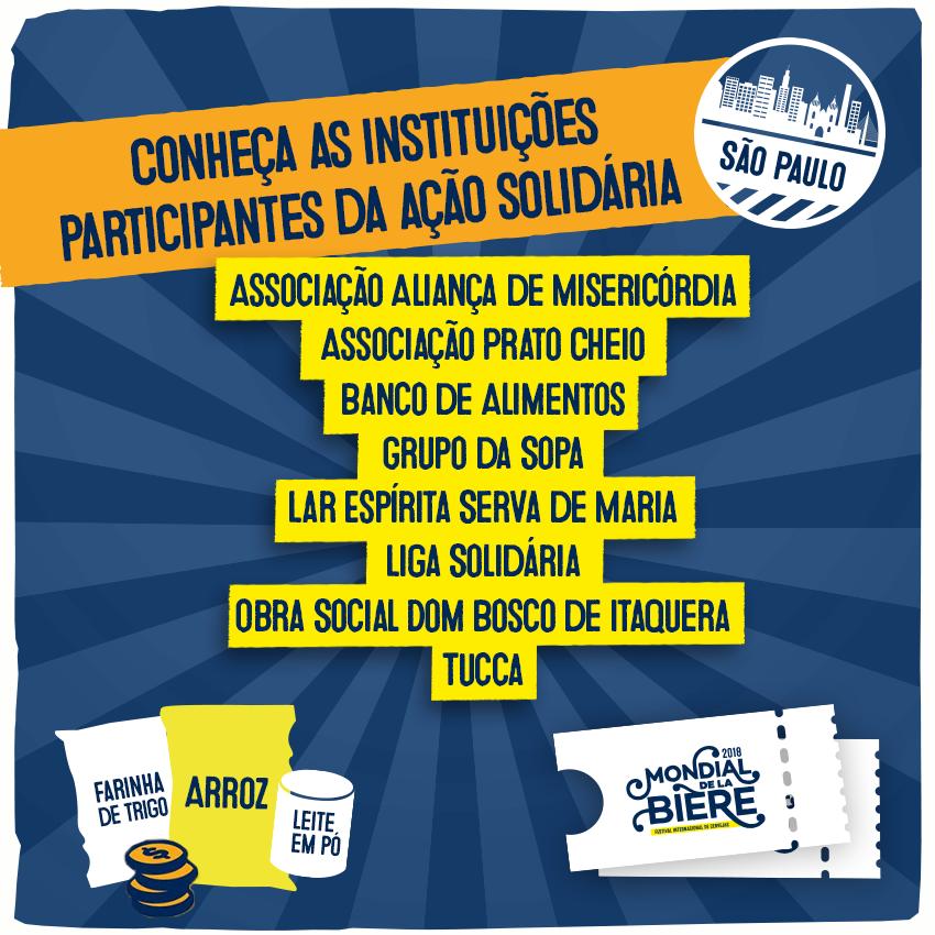 """Participe do Festival Internacional de Cervejas """"Mondial de la Bière"""" e ajude o Grupo da Sopa"""